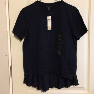 Brand new blue t shirt with ruffles